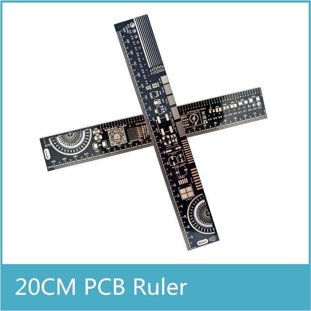 10 шт. многофункциональная линейка PCB EDA измерительный инструмент Высокая точность транспортир 20 см черный