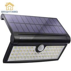 BRIGHTINWD Солнечный свет открытый 58 светодиодный движения Сенсор Lights Настенные светильники сад крыльцо безопасности лампа с широким