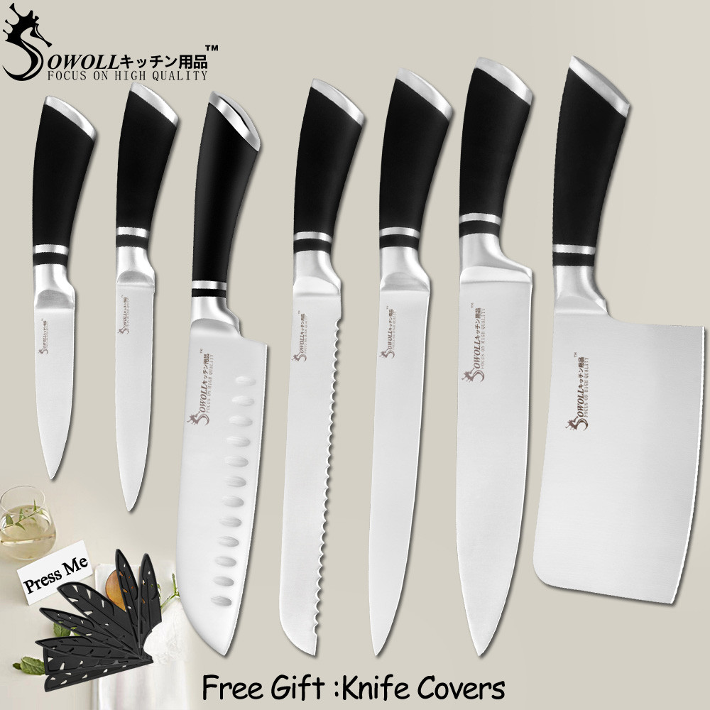 SOWOLL Tools Knives Chopping-Knife Slicing Cooking-Accessory Chef Paring Bread Stainless-Steel