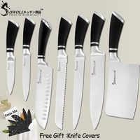 SOWOLL cuchillos de cocina de acero inoxidable cuchillos de cocina de Santoku pan cortar Chef cuchillo de cortar de cocina accesorio herramientas