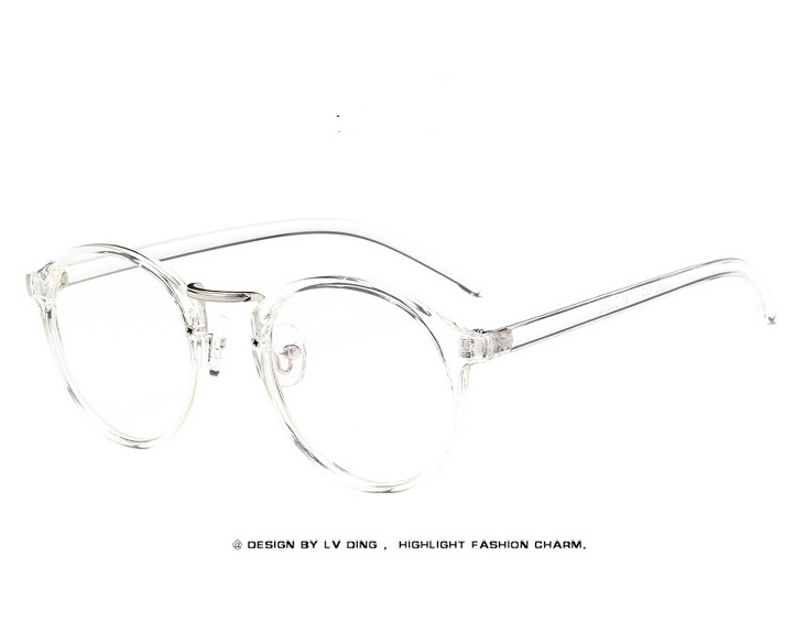 816187328e55 Fashion Transparent round glasses clear frame Women Spectacle myopia ...