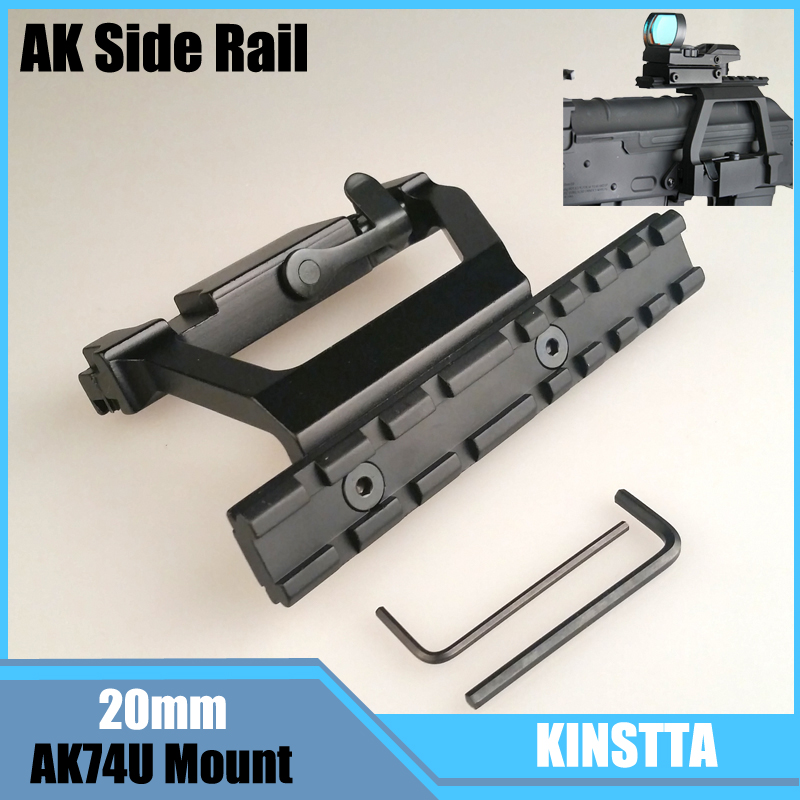 KINSTTA Tactical AK 74U Mount sgancio Rapido 20mm AK Side Blocco ferroviario Scope Mount Base per AK 74U Fucile Da Caccia & CS battaglia