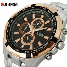 2017 Curren модный бренд кварцевые часы мужчины полный стали часы мужские наручные часы водонепроницаемые Relogio masculino Повседневное наручные часы