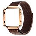 Миланский Магнитный браслет Из Нержавеющей Стали Часы Ремешок + Металлический Каркас Для Fitbit Blaze Высокое Качество О18