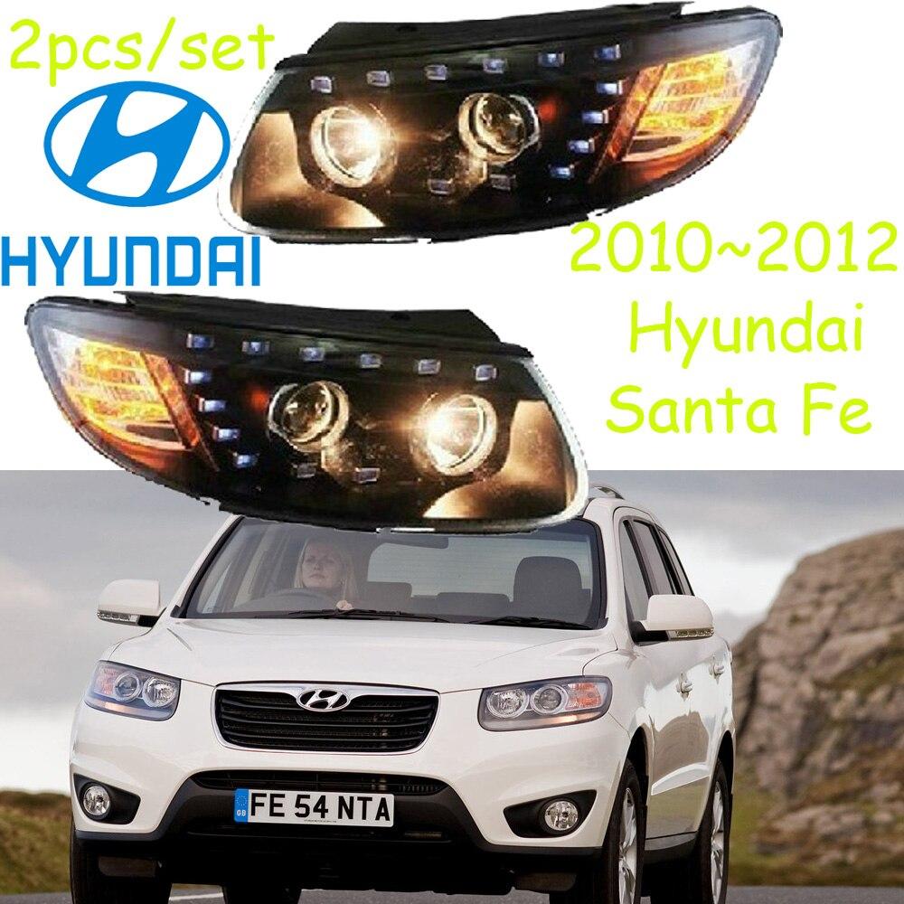 car-styling,Santa Fe headlight,2010~2012,Free ship!ITucson,Santa Fe fog,LED, Ballast,Santa Fe head lamp,Veracrus,tucson,ix35 santa clara