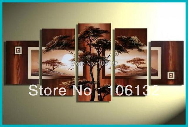 Aliexpress.com : Buy Framed 5 Panel Huge High End Amazing Tree ...