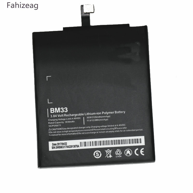 fahizeag 3030mAh 11.6Wh BM33 BM 33 3.84VDC Phone Replacement Li-Polymer <font><b>Battery</b></font> For Xiaomi Mi4i <font><b>Mi</b></font> <font><b>4i</b></font> M4i <font><b>batteries</b></font> image