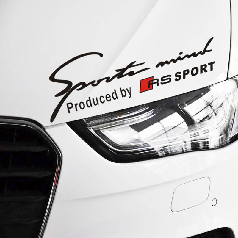 Newest design car sports mind produced by rs sports stickers car decals for audi rs sports a1 a3 a4 a5 a6 a7 a8 s8 q3 q5 q7 in car stickers from automobiles