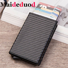 NEW Fashion Card  Holder Case ID Metal Credit Card Holders With RFID  Business Aluminum Wallet for Credit Card  Free shipping waterproof business id credit card holder wallet pocket case aluminum metal shiny side anti rfid scan cover 2016 fashion