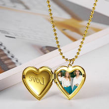 OUFEI Stainless steel Jewelry for woman Heart-shaped Necklace Valentines Day Mothers day Gift Accessories Wholesale lots bulk(China)