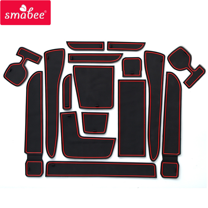 for Toyota Wish 2009 - 2017 AE20 Anti-Slip Rubber Cup Pad Door Groove Mat 2010 2011 2012 2013 2014 2015 2016 Accessories Sticker for mitsubishi outlander 2013 2014 2015 2016 accessories 3d rubber car mat anti slip mat interior door pad cup mat 14pcsoriginal