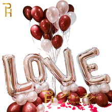 Love Letter Balloons Set Wedding Decoration Bling Wedding Party Foil Inflatable Balloons Birthday Gender Reveal Party Supplies