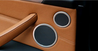 For BMW X6 E71 2008 2014 Door Inner Speaker Cover Ring Decor Trim Matte Stainless Steel 6pcs Car Styling Accessories