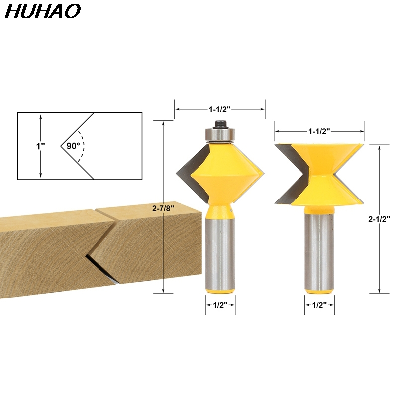 2pcs/lot Edge Banding Router Bit Set V-Design Tongue & Groove - 1/2 Shank бампер edge 2 set abs