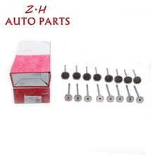 OEM 16pcs Engine Intake & Exhaust Valves For Audi A3 A4 A5 Q5 TT VW Golf Beetle Passat CC Eos Jetta 2.0TSI 06D109611H 06D109601M dwcx black oil level sensor fit for vw golf gti passat touareg beetle caddy cc eos audi a3 a4 a5 q5 q7 seat skoda 6pr009629