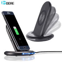 DCAE Qi Wireless Charger For IPhone X 8 For Samsung Note 8 S9 S8 Plus S7