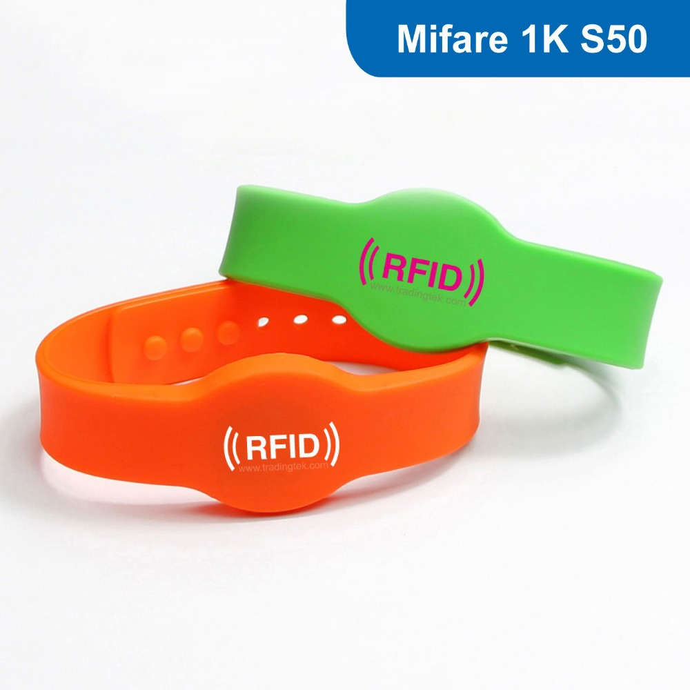 No 4 Silicone RFID wristband RFID Wristband RFID Bracelet for access control ISO14443A 13 56MHZ with
