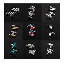 XK396 High quality men's business Cufflinks 12 Animal Cufflinks / penguins / Elephant / shark / monkey / other shirt accessories