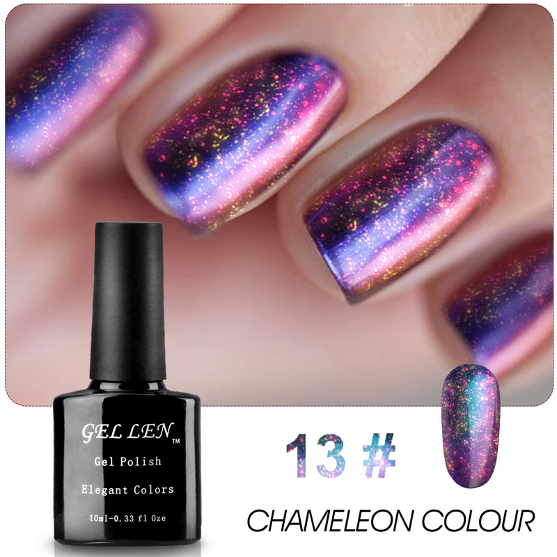 Gel Len Nail UV Gel Polish Chameleon UV Gel Limited Sale New Arrival High Quaility The Best Gel Lacquer жидкость domix green professional nail gel polish remuver