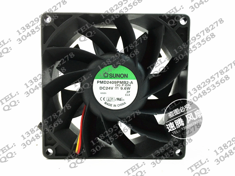 Genuine PMD2409PMB2-A 9038 24V 9.6W 3 line drive fan