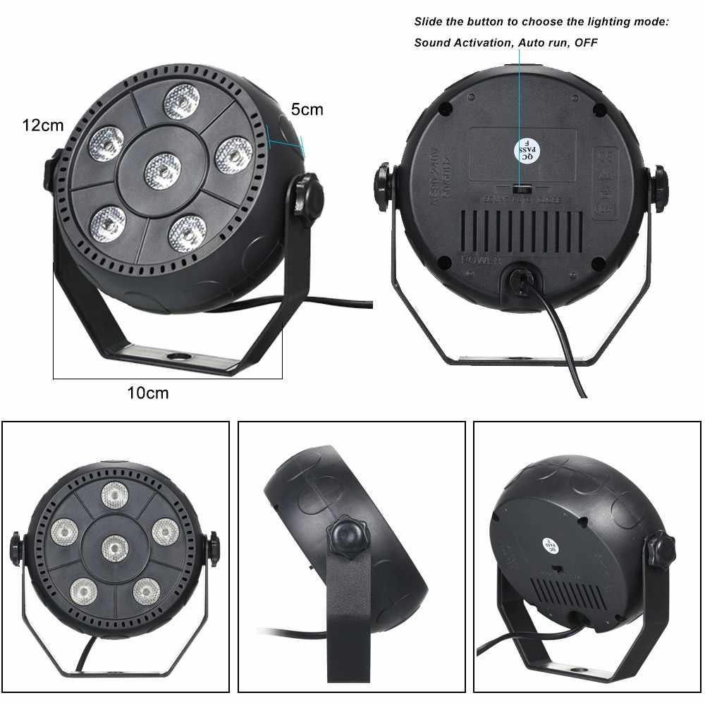 Мини 9 W Dj лазерного дискотечный шар свет этапа 6 светодиодов RGB мыть эффект Портативный этап номинальной свет Автозвук активации Indoor Дискотека лампы