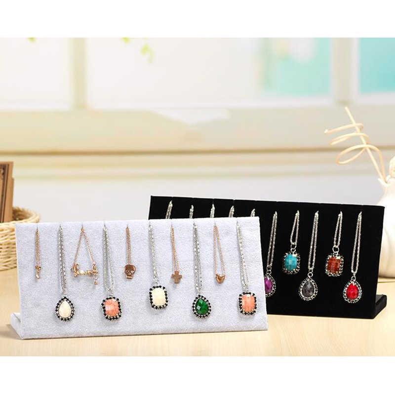 Цепочки и ожерелья торговая стойка для подвесок Для женщин Органайзер-держатель ювелирных изделий чехол для хранения витрина для браслетов