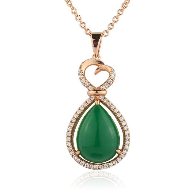 Good setting green stone pendant necklace accessories high class good setting green stone pendant necklace accessories high class women jewelry db3310bc aloadofball Choice Image