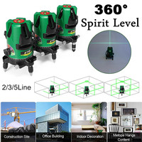 3D 2/3/5 Line Laser Level Leveling 30 Times Outdoor Strong Green Light Cross Measure 360 Professional Plumb point?Waterproof