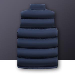 Image 2 - 2020 סתיו החורף מזדמן אפוד זכר באיכות גבוהה ללא שרוולים מעיל Mens בתוספת גודל חזייה חמה מוצק להאריך ימים יותר אפוד Veste Homme