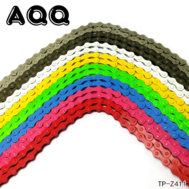Fixed gear track bike bicycle chain single speed Steel chain magic button chain colorful 98 links 1Pc Bike Chain outerdo 10 speed 116 link mtb mountain road bike stainless steel chain bike bicycle cycling chain for track bikes fixed gear