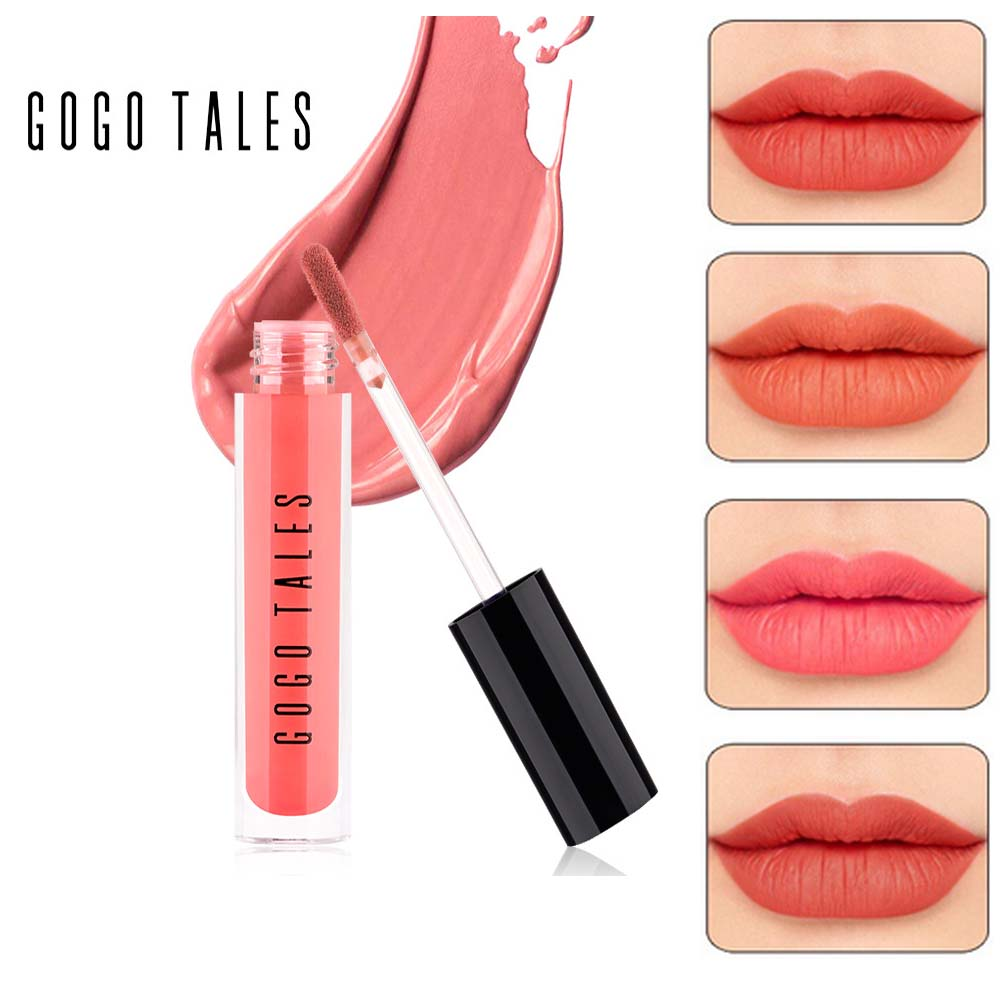 GOGO TALES Lip Makeup Velvet Matte Lip Gloss Waterproof Long Lasting 8 Colors Batom Nude Liquid Lipstick Pink Lip Tint BN048