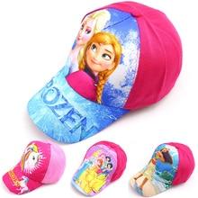 Детские Козырьки; Детская кепка принцессы Эльзы и Анны; Осенняя шапка для девочек; Повседневная бейсбольная кепка; сезон весна-лето; Милая шапка с рисунком