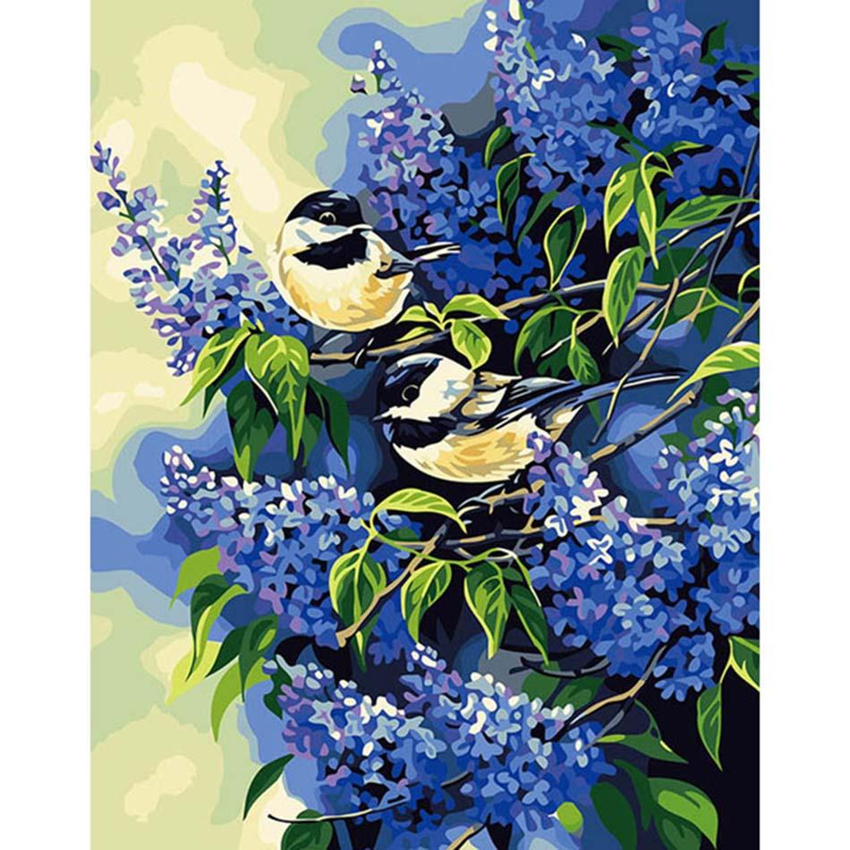 Beautiful bird DIY digital paint Oil painting Number ...