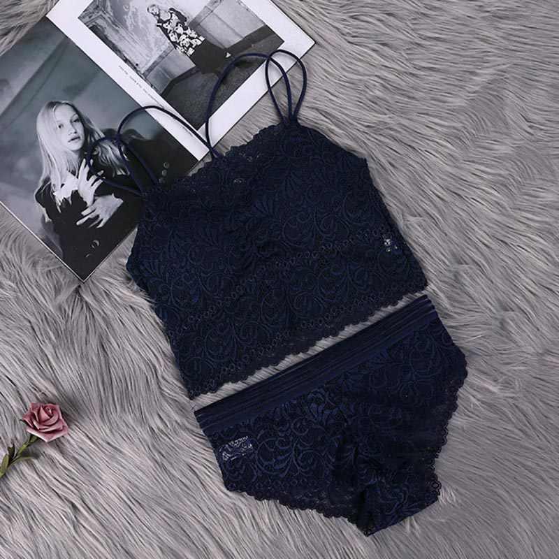 Transparan Renda Bra dan Panty Set Wanita Sexy Lingerie Bra Set Intimate Pakaian Wanita Set Нижнее Белье Белье Женское