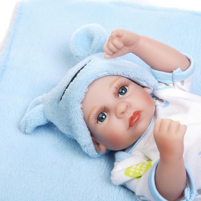 26 cm Mini mignon silicone souple douche poupées jumeaux bébé maison poupée s'adapte à cadeau de noël pour les enfants
