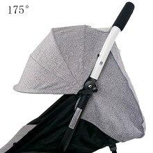 Housse et coussin du soleil, en tissu Oxford, pochette à larrière, fermeture éclair, accessoires de poussette pour bébé Yoya Throne, pour bébés