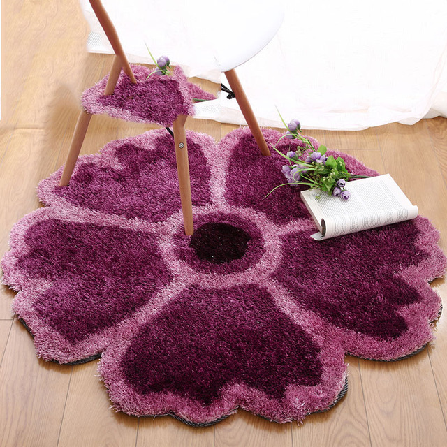 Flower Carpet Pad Computer Furniture Upholstery Circular Living Room Den Bedroom Rug Floor Mats And Chairs