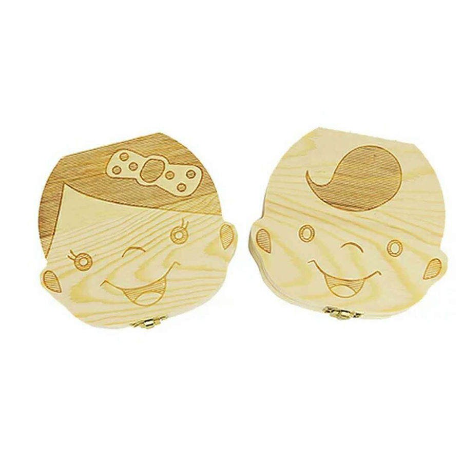 Clearance SaleOrganizer Tooth-Box Milk-Teeth-Storage Gifts Baby Teeth-Umbilica Collect Save Wood Lanugo