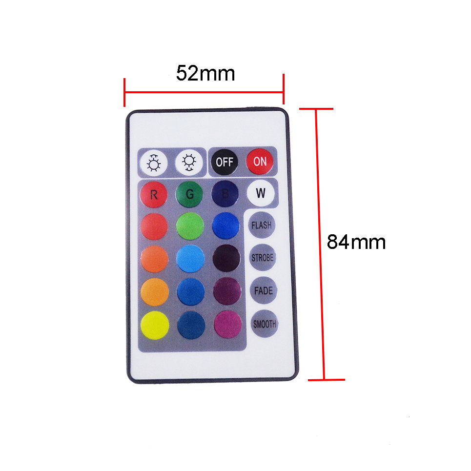 1pcs mini 24 Keys IR RGB Remote Controller with DC wire DC12V for SMD3528/5050/3014 RGB LED Strip lights Controler in stock TR