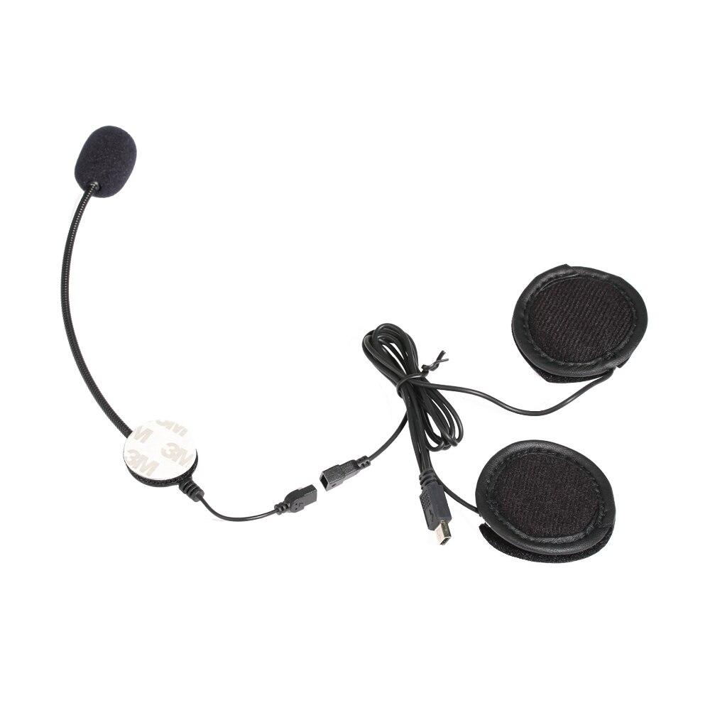 10 PIN Mini USB Jack Mikrofon Lautsprecher Headset Und Helm Intercom Clip für Motorrad Bluetooth Gerät Vnetphone V8