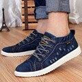 NALIMEZU 2016 весной и осенью новый мужской обуви, чтобы помочь полуботинки холст обувь мыть джинсовой 39 ~ 44 zapatillas deportivas hombre AA008