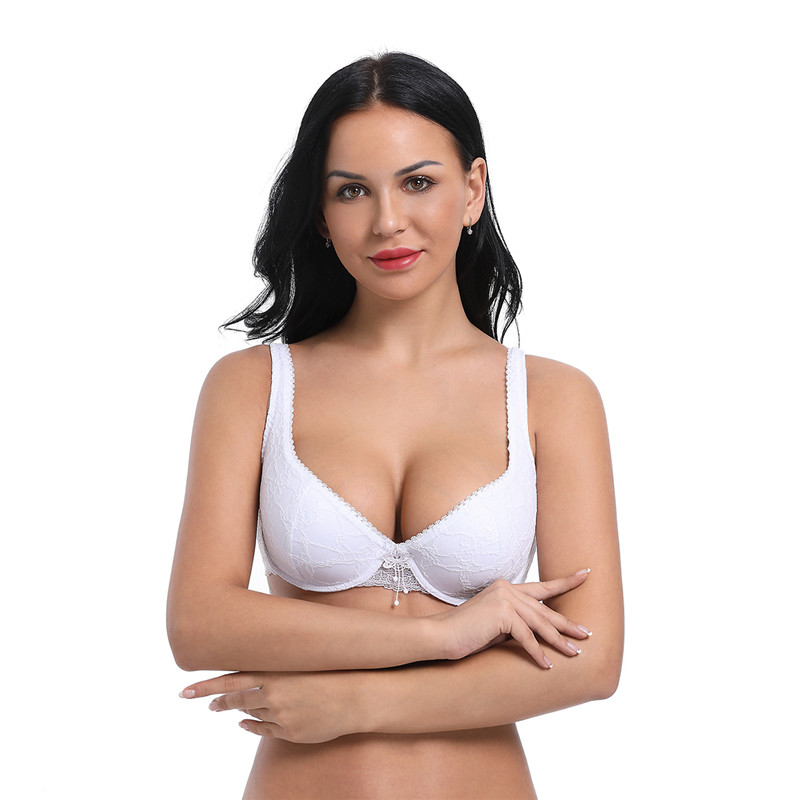 Ayliss Latest High quality 1pc Women 39 s Underwire White Bra Comfort Lace Bra for Everyday Floral Cotton Cup Bras Style Charm in Bras from Underwear amp Sleepwears