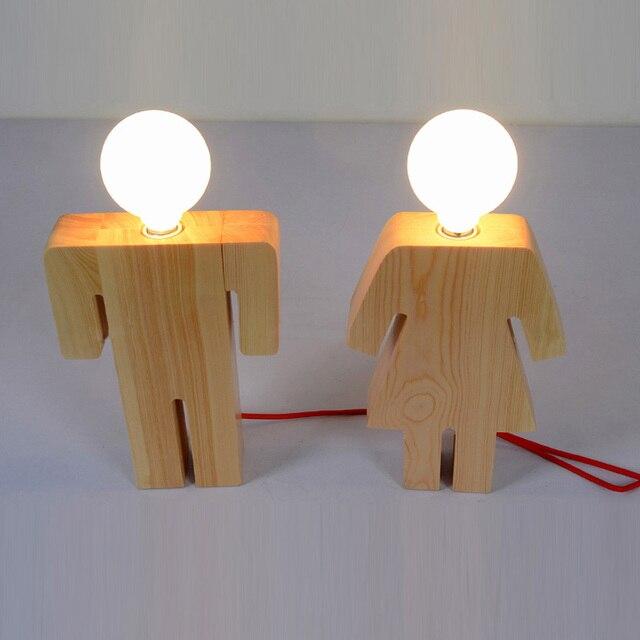 Modernes Design Boy & Girl Schreibtisch licht Holz e27 110 V 220 V ...