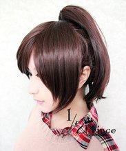 Sasha Blaus marrón oscuro chip de cosplay del anime de la peluca del ponytail