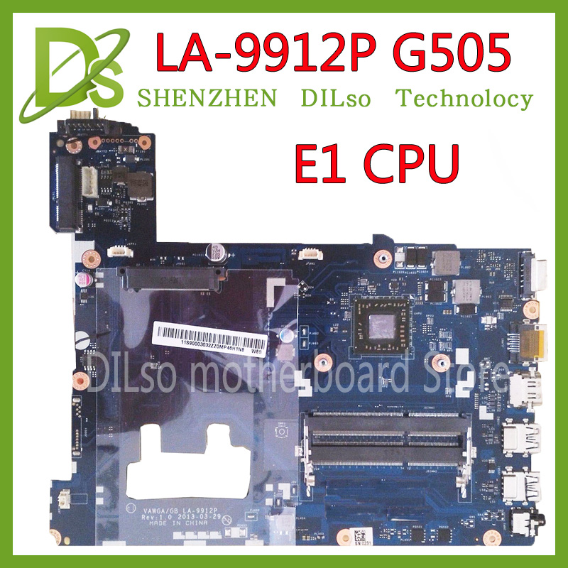 KEFU LA-9912P laptop motherboard for Lenovo ideapad g505 LA-9912P laptop motherboard E1 CPU tested motherboard hot sale brand new vawga gb la 9912p motherboard for lenovo g505 laptop mainboard with e1 2100 cpu