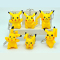 6pcs/lot Hot Anime Pokemon keychain cosplay figure Pikachu keychains pendants Pocket Monster keyring