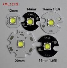 5pcs CREE XML2 white light(U2-1A) flashlight LED lamp bead high power leds 6500-7000K MAX 1100 lumens 12mm 14mm 16mm 20mm AL PCB