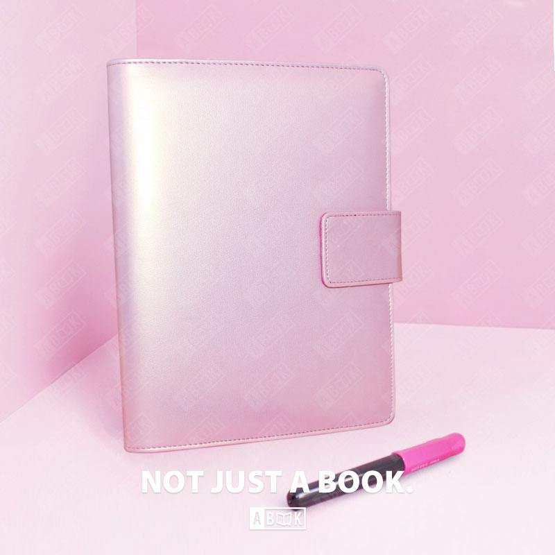 New 2019 freeshipping notebook A5 A6 planner agenda diary kawaii stationary cute organizer goldrose pink gold ring