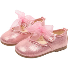 Little baby girl leather shoes bows Bling Girl Princess Baby girls for dancing Children Kids soft-soled Shoes