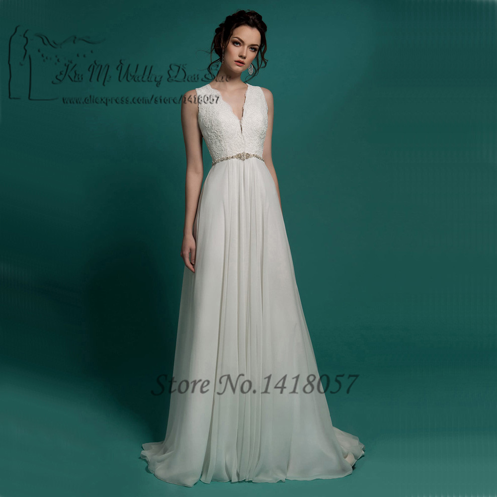 Church Korean Cheap Wedding Dress Lace Belt Vintage Wedding Gowns A ...